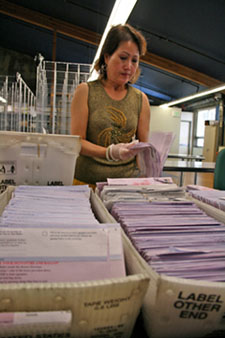 Counting and sorting Vote by Mailballots