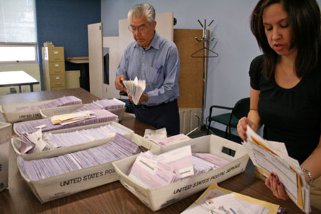Counting and sorting Vote by Mail ballots