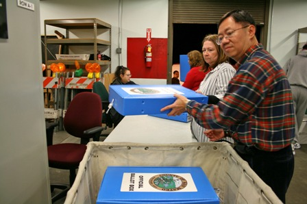 Scanning and processing paper ballot boxes
