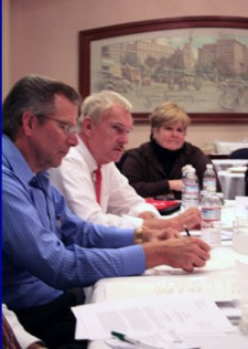 AARP's National Policy Council members listen to election reform ideas from Warren Slocum