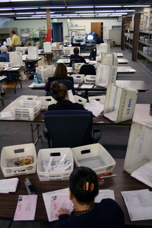 Workers are still counting Vote by Mail ballots and provisional ballots after Election Day