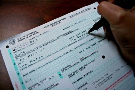 Image result for california voter registration forms