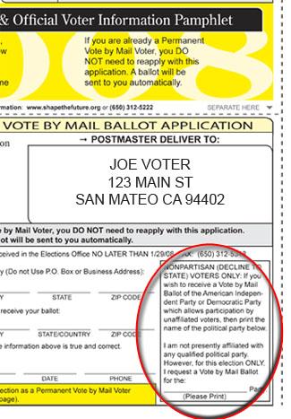Back cover of Sample Ballot & Official Voter InformationPamphlet