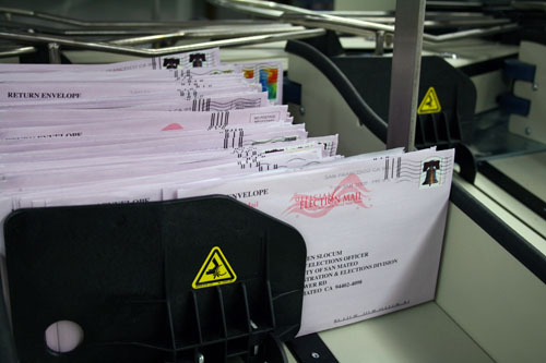 Vote by Mail ballot envelopes